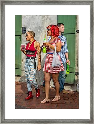 French Quarter - Party Time Framed Print by Steve Harrington