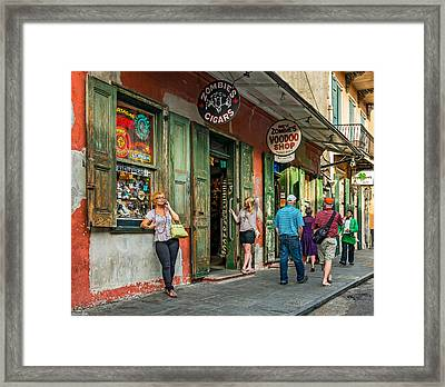 French Quarter - People Watching Framed Print