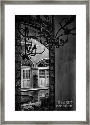 French Quarter Reflection Framed Print by Kathleen K Parker