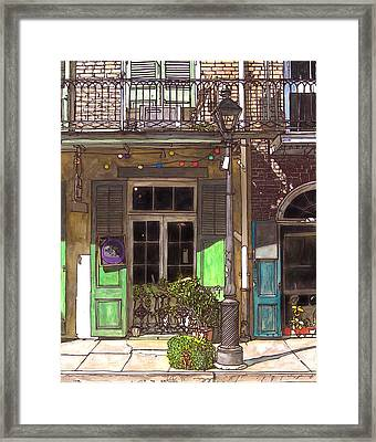 French Quarter Shop 369 Framed Print by John Boles