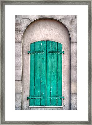 French Quarter Shutters Framed Print by Brenda Bryant