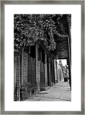 French Quarter Sidewalk Framed Print