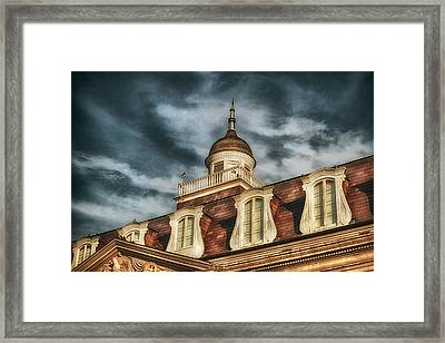 French Quarter Skies Framed Print