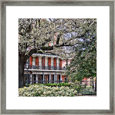 French Quarter Spring Framed Print by Olivier Le Queinec