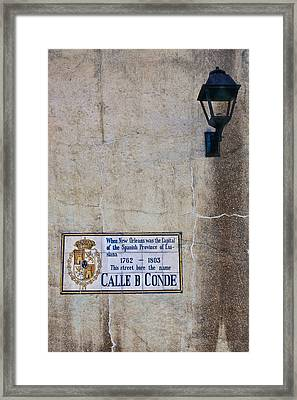 French Quarter Street Sign Framed Print by Ray Devlin