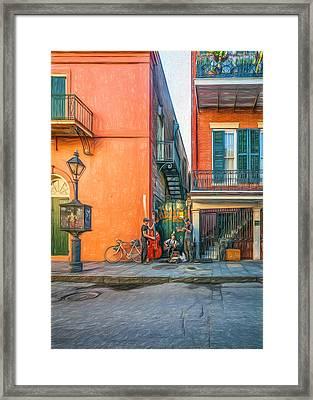 French Quarter Trio - Paint Framed Print by Steve Harrington