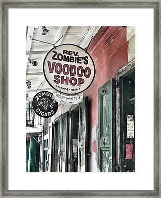 French Quarter Voodoo Shop Framed Print by Mike Barch