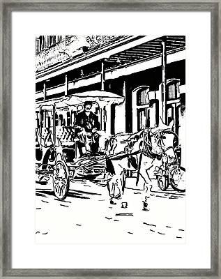 French Quarter Wheels 2 Framed Print by Steve Harrington