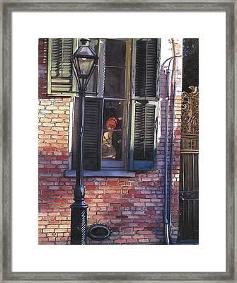 French Quarter Window 384 Framed Print by John Boles
