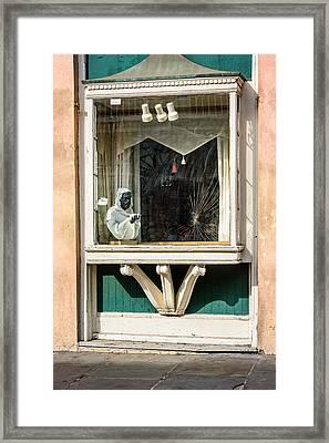 French Quarter Window Display Framed Print