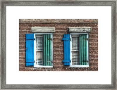 French Quarter Windows Framed Print