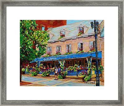 French Restaurant Jardin Nelson Paris Style Bistro Place Jacques Cartier Terrace Garden C Spandau   Framed Print