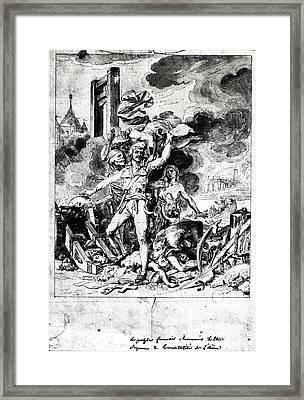 French Revolution Allegory Framed Print by Granger
