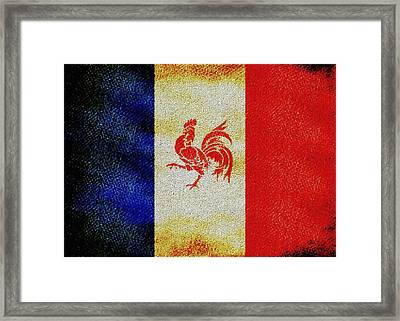 French Rooster Framed Print by Jared Johnson