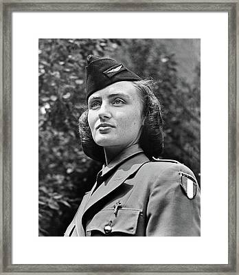 French Servicewoman, C1940 Framed Print by Granger