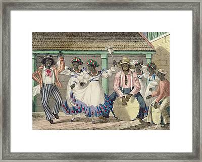 French Set-girls, Plate 7 From Sketches Of Character..., 1838 Colour Litho Framed Print by Isaac Mendes Belisario