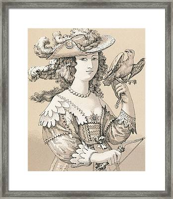 French Seventeenth Century Costume Framed Print by French School
