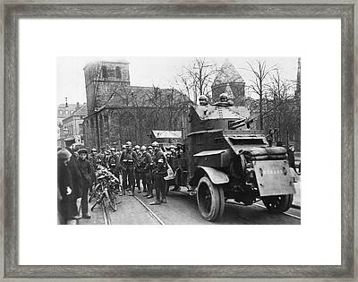 French Soldiers Occupy Essen Framed Print