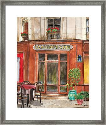 French Storefront 1 Framed Print
