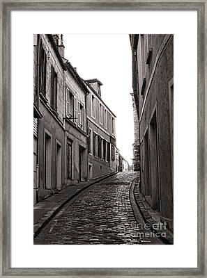 French Street Framed Print by Olivier Le Queinec