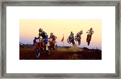 French Supercross '88 Framed Print by Guy Pettingell