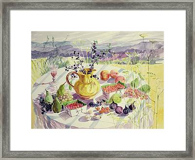 French Table Framed Print by Elizabeth Jane Lloyd