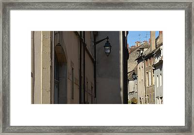 French Terraces Framed Print