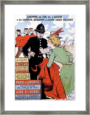 French Travel Advertising Poster Framed Print