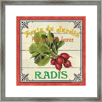 French Vegetable Sign 1 Framed Print by Debbie DeWitt