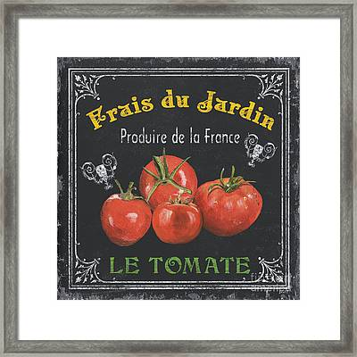 French Vegetables 1 Framed Print by Debbie DeWitt
