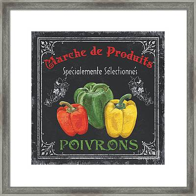 French Vegetables 3 Framed Print by Debbie DeWitt