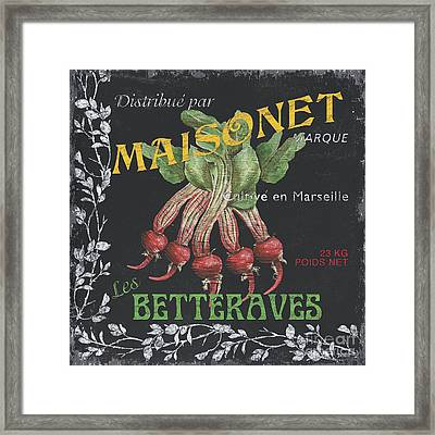 French Veggie Labels 2 Framed Print by Debbie DeWitt