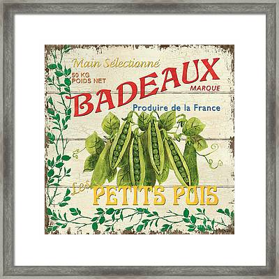 French Veggie Sign 1 Framed Print by Debbie DeWitt