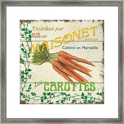 French Veggie Sign 2 Framed Print by Debbie DeWitt