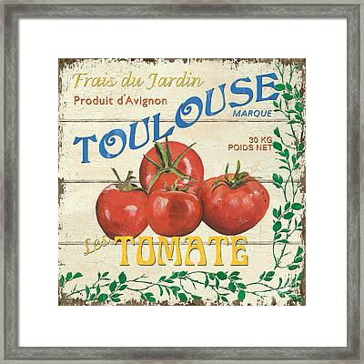 French Veggie Sign 3 Framed Print by Debbie DeWitt