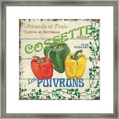 French Veggie Sign 4 Framed Print by Debbie DeWitt