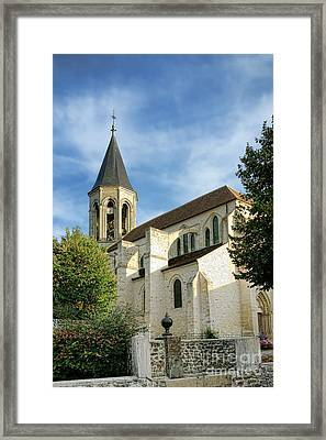 French Village Church Framed Print by Olivier Le Queinec