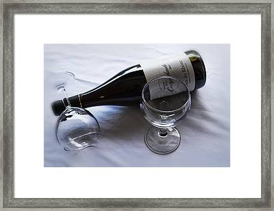French Wine For Two Framed Print