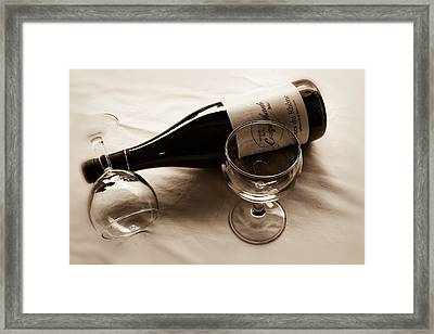 French Wine For Two Toned Framed Print