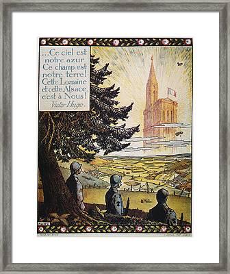 French World War I Poster Framed Print by Granger