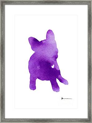 Frenchie Abstract Dog Silhouette Framed Print