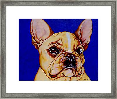 Frenchie Framed Print by Lina Tricocci