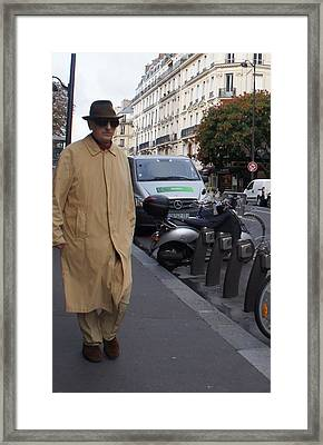 Frenchman Incognito Framed Print