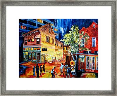 Frenchmen Street Funk Framed Print by Diane Millsap