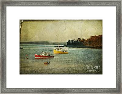 Frenchmen's Bay Fishing Boats Framed Print
