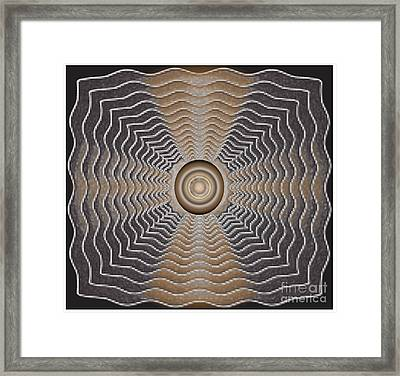 Framed Print featuring the digital art Frenzy by Iris Gelbart