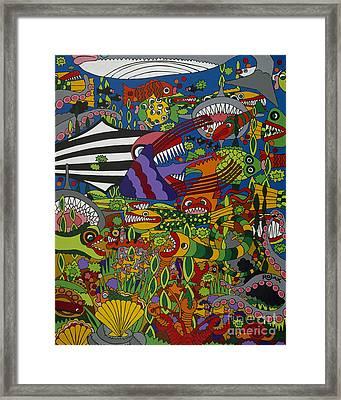 Frenzy Framed Print by Rojax Art