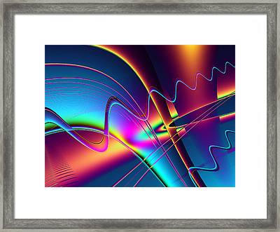 Frequency Framed Print by Wendy J St Christopher
