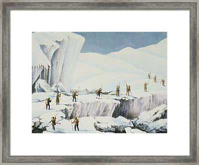 Frequent Appearance Of The Ice Framed Print