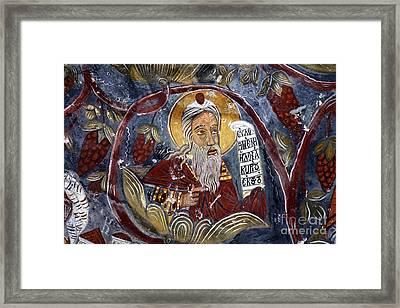 Fresco At The Sumela Monastery Turkey Framed Print by Robert Preston